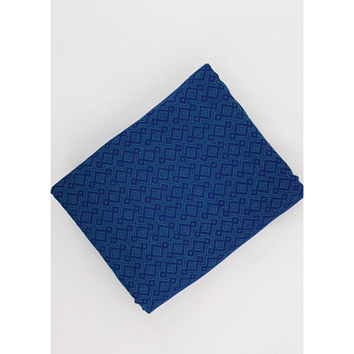 True Blue Color Mangalagiri Jacquard cotton fabric - Vinshika