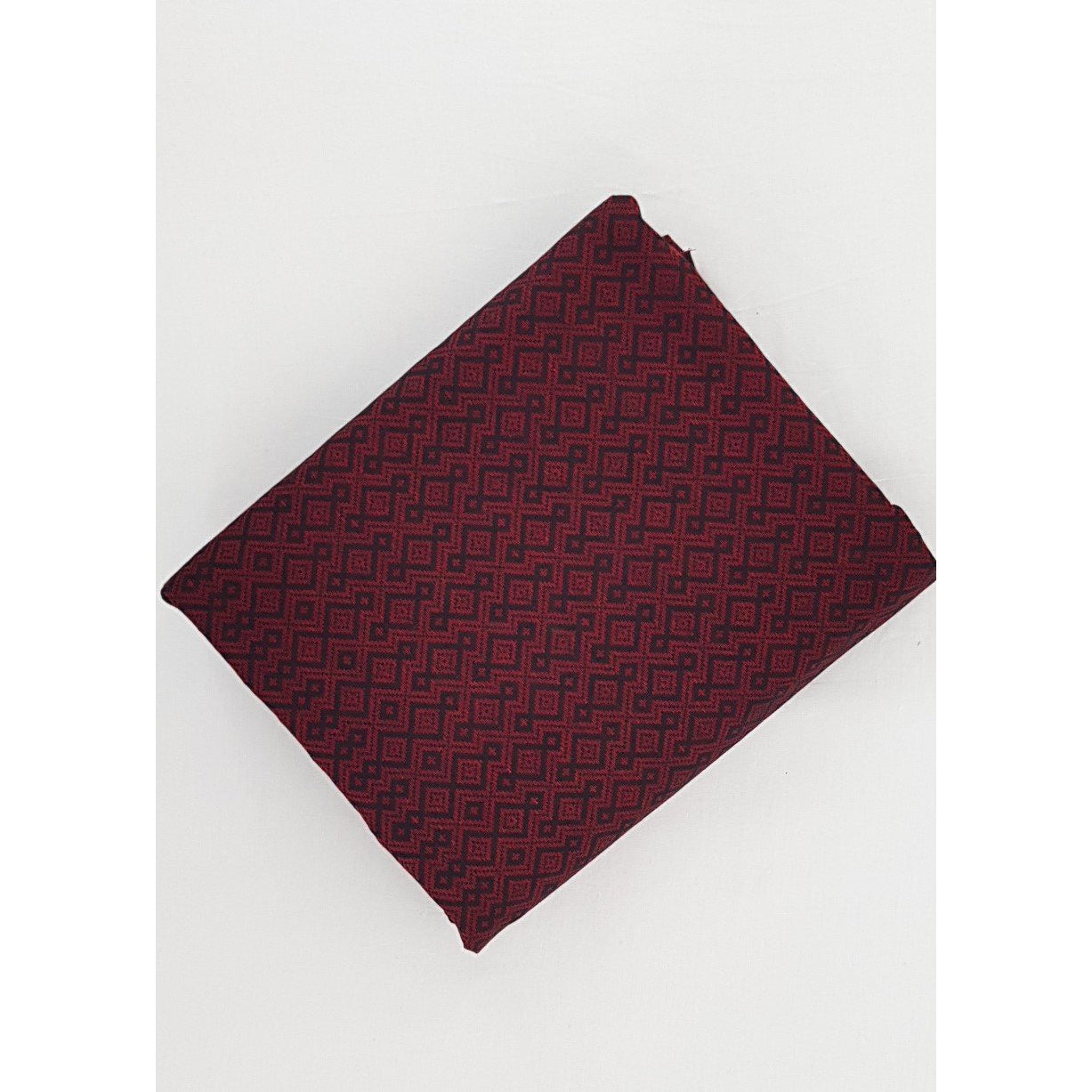 Deep Maroon Color Mangalagiri Jacquard cotton fabric - Vinshika