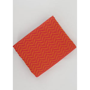 Alphonso and Carrot Orange Color Mangalagiri Jacquard cotton fabric - Vinshika
