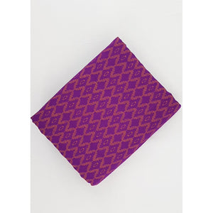 Pure Purple Color Mangalagiri Jacquard cotton fabric - Vinshika