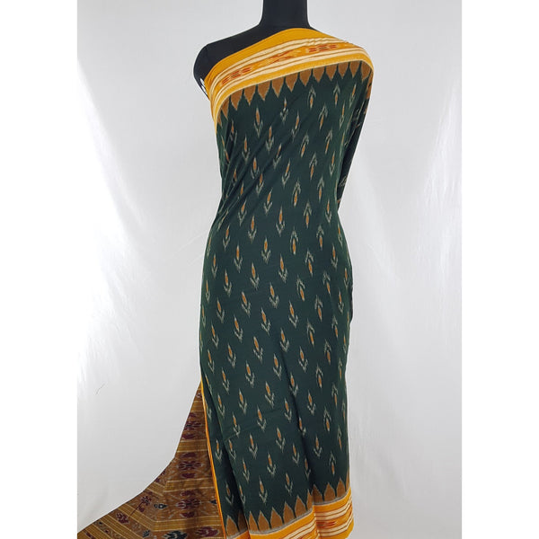 Handloom sambalpuri ikat mercerized cotton saree with blouse - Vinshika