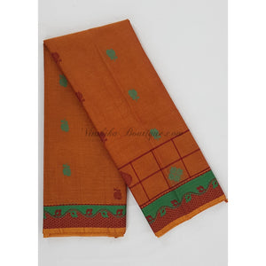 Premium Kanchi cotton saree with rich pallu - Vinshika