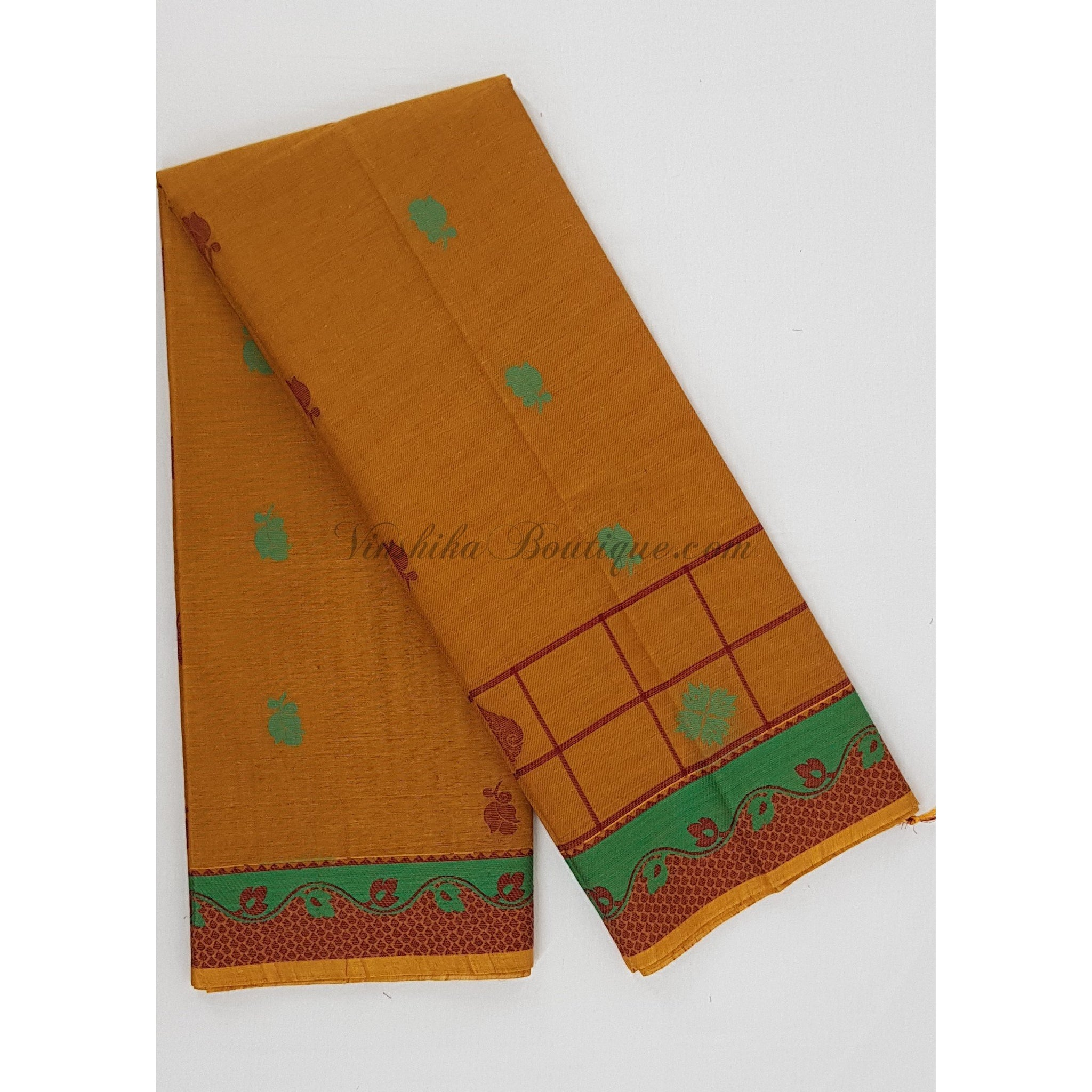 Premium Kanchi cotton saree with rich blouse and pallu - Vinshika