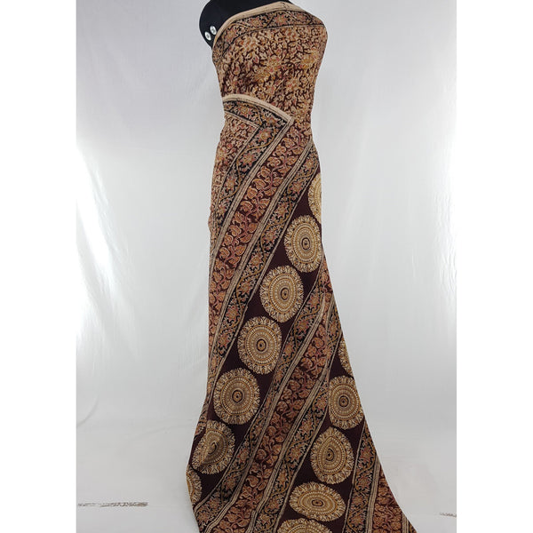 Handprinted Kalamkari Cotton saree - Vinshika