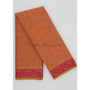 Kanchi cotton saree allover jacquard weaving with thread border