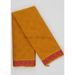 Kanchi cotton saree allover jacquard weaving with thread border - Vinshika