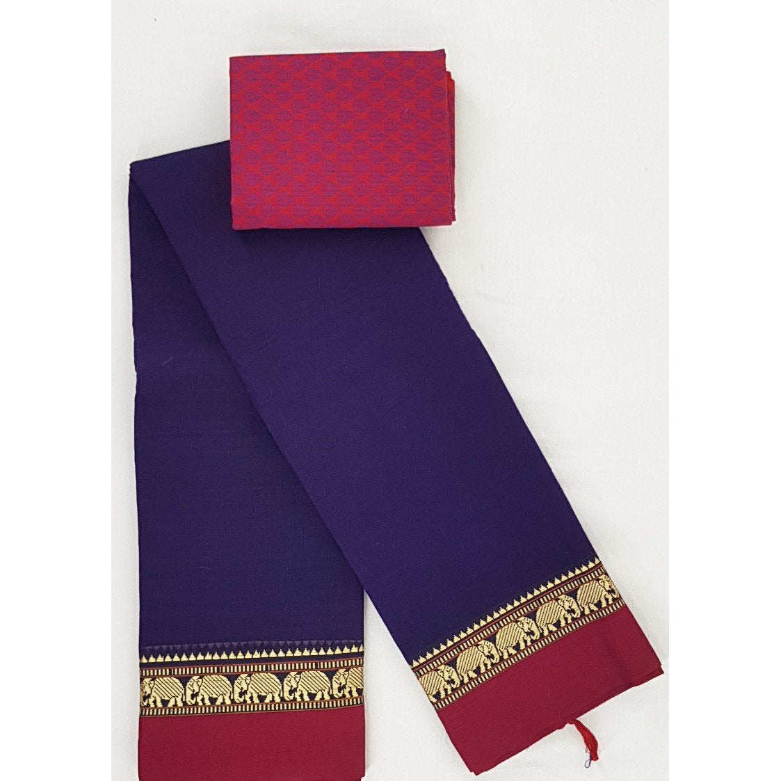 Narayanpet pure cotton thread border saree