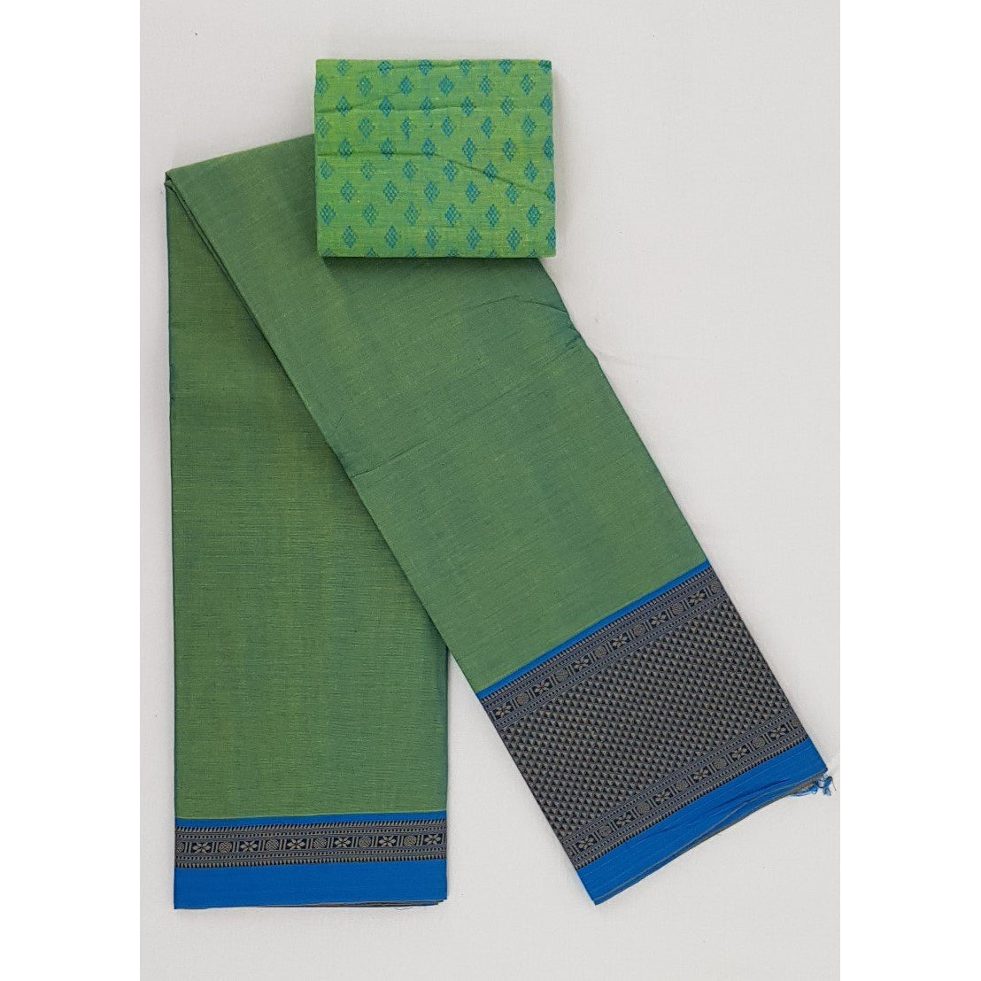 Narayanpet pure cotton thread border saree - Vinshika