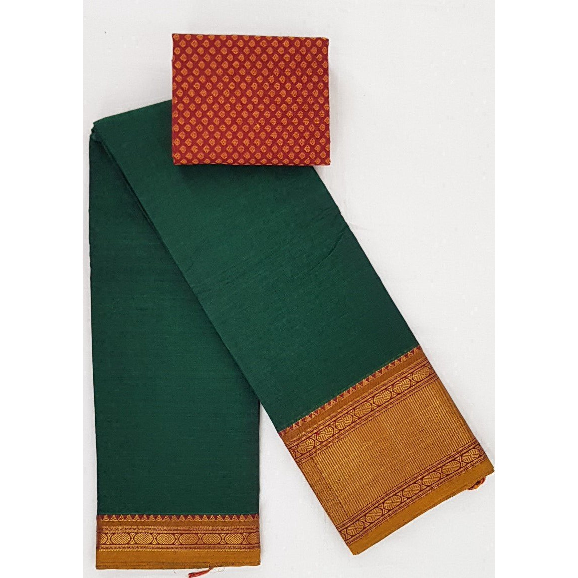 Narayanpet pure cotton zari border saree