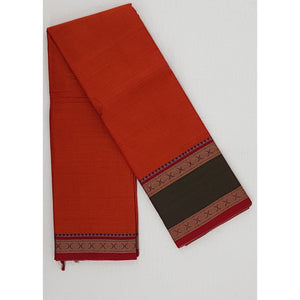 Narayanpet pure cotton rudraksha thread border saree - Vinshika