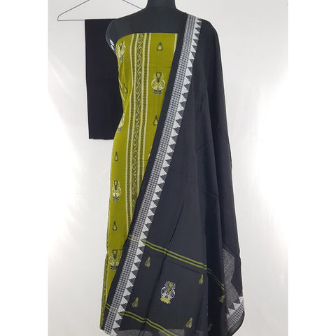 Sambalpuri Handloom Ikat embroidered cotton salwar set