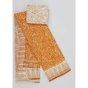 Hand Printed Pure Cotton saree