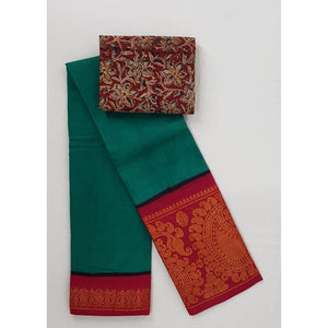 Madhurai Sungudi Big Border Pure Cotton Saree - Vinshika