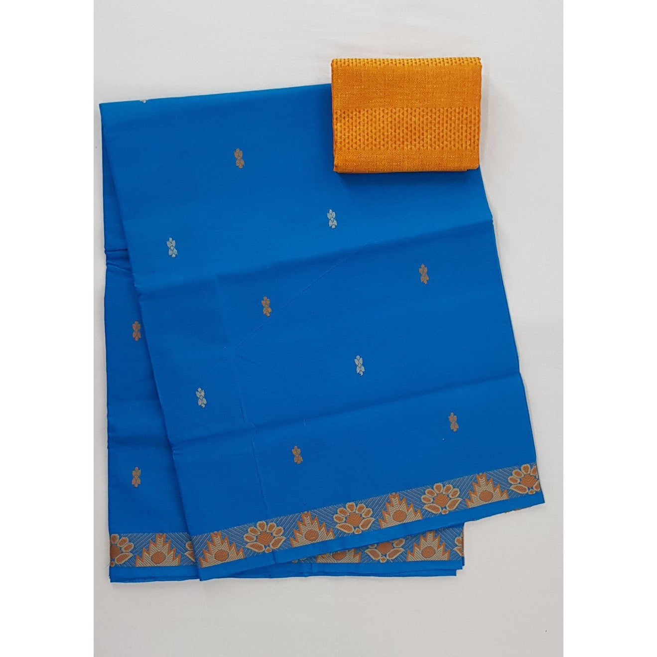 Blue Color Venkatagiri Cotton Saree - Vinshika