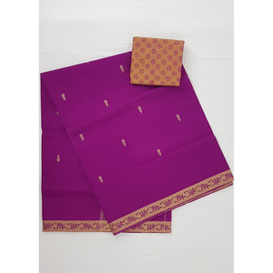 Hot Falsa Color Venkatagiri Cotton Saree - Vinshika