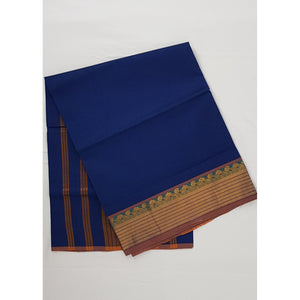 True Blue Color Handwoven Venkatagiri Cotton Silk Saree - Vinshika