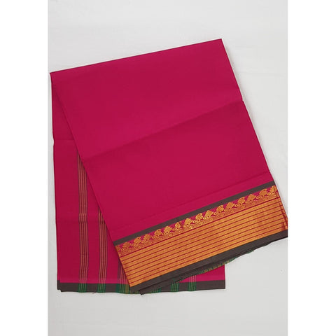 True Rani Color Handwoven Venkatagiri Cotton Silk Saree - Vinshika
