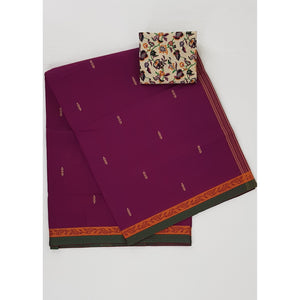 Pink color Venkatagiri cotton saree - Vinshika
