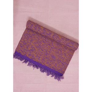 Purple and Saffron Color Handwoven Yoga Mat – 2.4 ft X 6.5 ft - Vinshika