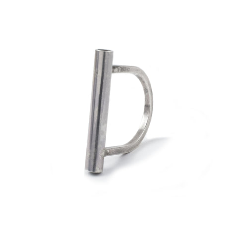 "TUBE ""D"" STYLE RING"