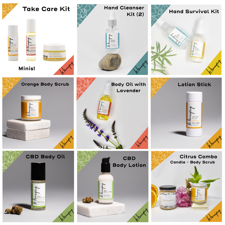 Image promoting H. Honeycup participation as a natural skincare vendor in Bryn Mawr PA Clover Market event.