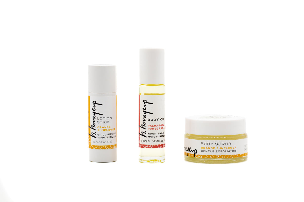 Natural skincare samples