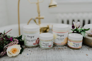 h. honeycup natural orange body scrubs