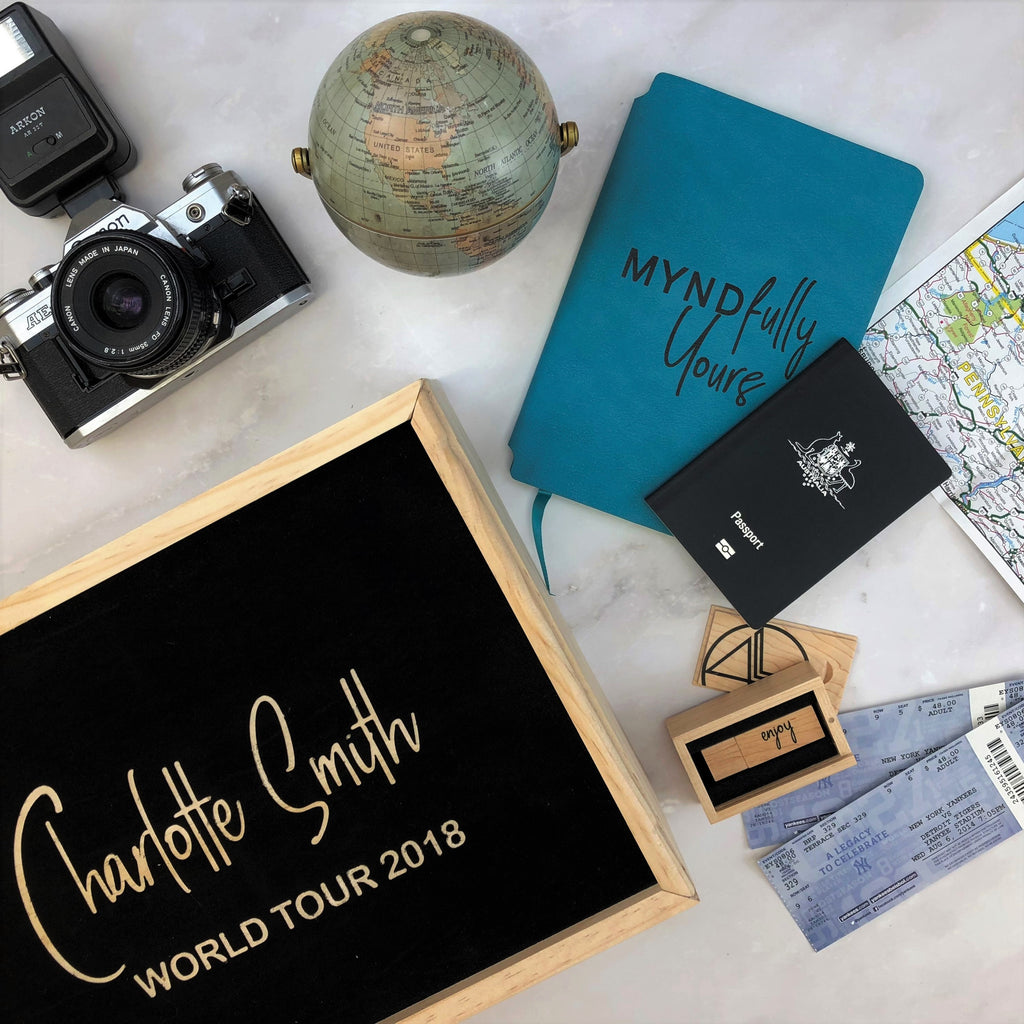 Travel - Personalised memory box - Wooden keepsake box -adventure awaits