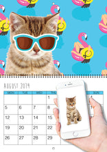 Load image into Gallery viewer, Personalised Cat Calendar