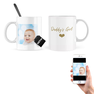 Personalised Daddy's Girl Mug - With Your Choice of Photo On