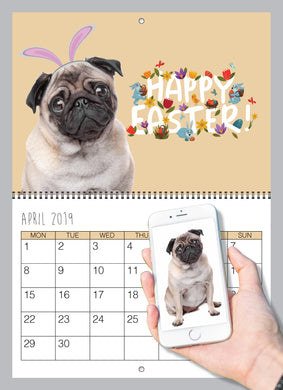 Personalised Dog Wall Calendar