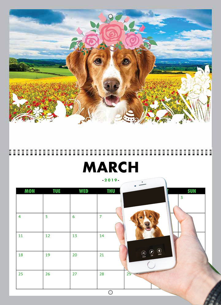 Dog Calendar 2019 We Add Your Dog S Face To Our Calendars Inktree