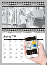 Load image into Gallery viewer, Personalised Black and White Calendar