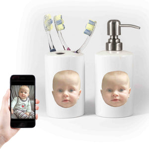Customisable Soap & Toothbrush Holder Set