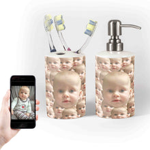 Load image into Gallery viewer, Customisable Soap & Toothbrush Holder Set