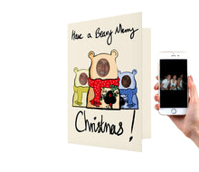 Load image into Gallery viewer, Beary Merry Family Card