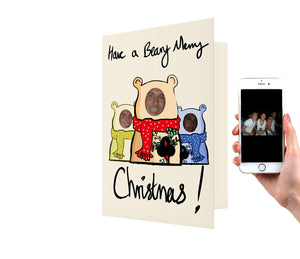 Beary Merry Family Christmas Card