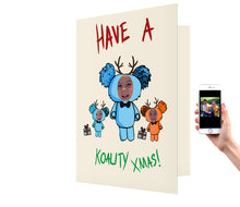 Load image into Gallery viewer, Koala Family Xmas Card