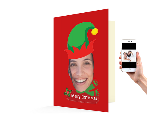 Customized Elf Xmas Card