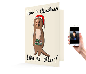 Otter Christmas Card