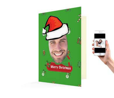 Customized Santa Xmas Card