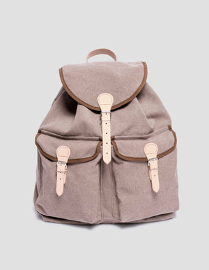 Handgefertigter Rucksack Brown aus Cotton Canvas