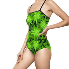 Green Star Burst Swimsuit