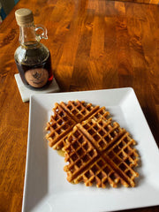 Vegan Waffles with BBA Syrup
