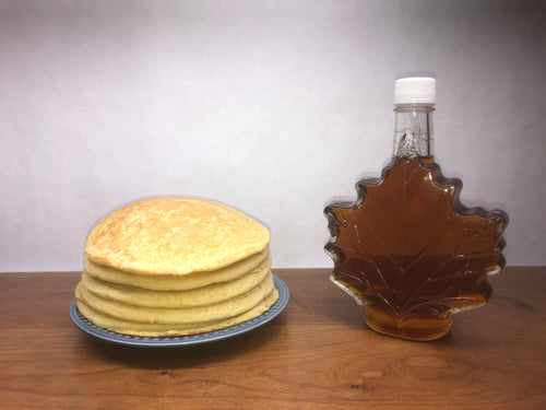 Certified Organic Syrup: 500 ml Maple Leaf Shaped Glass