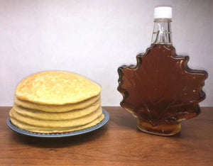 Certified Organic Syrup: 750 ml Maple Leaf Shaped Glass
