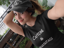 Load image into Gallery viewer, Caffeine & Hashtags Tee