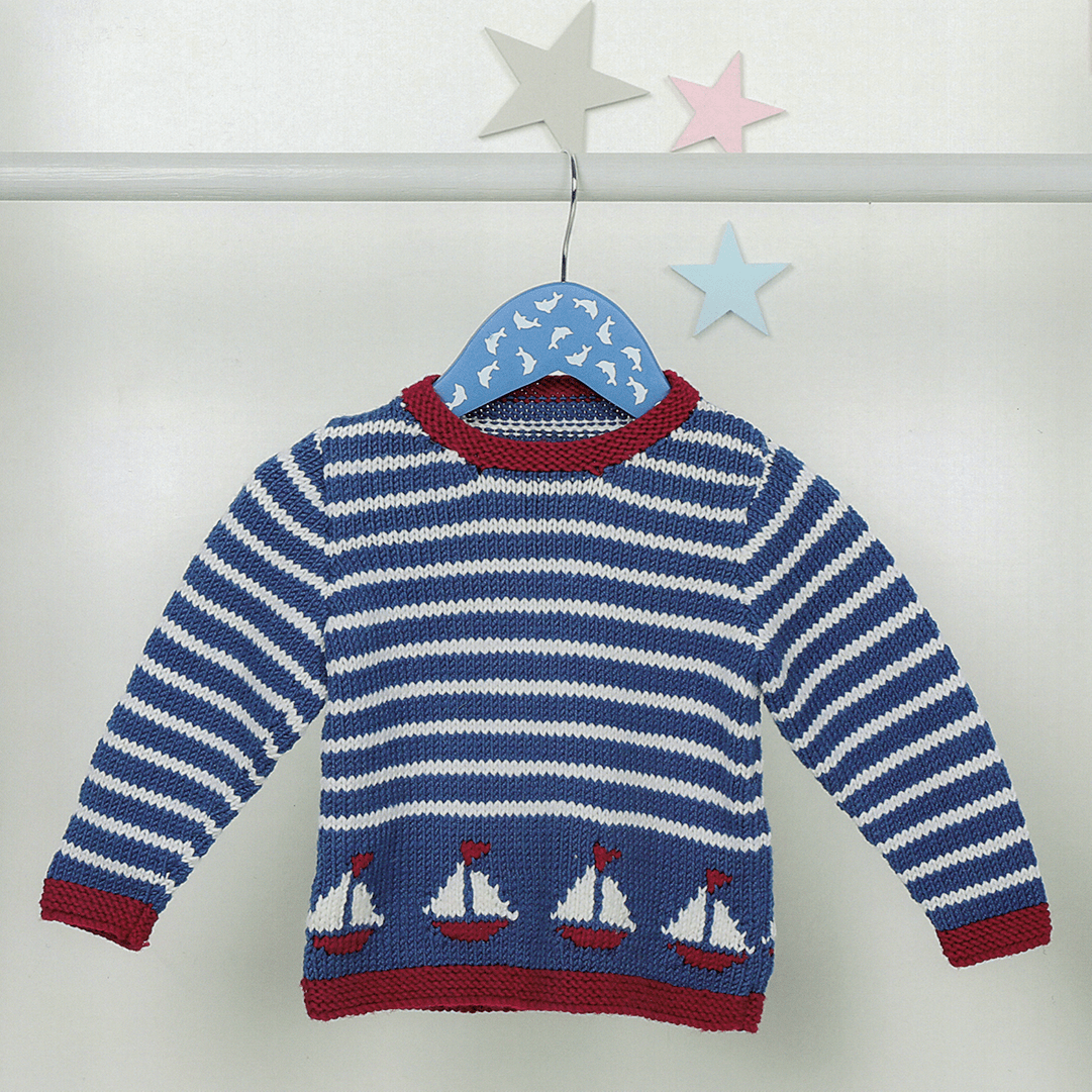 Bruno Baby Sweater + FREE BONUS book of baby patterns!*