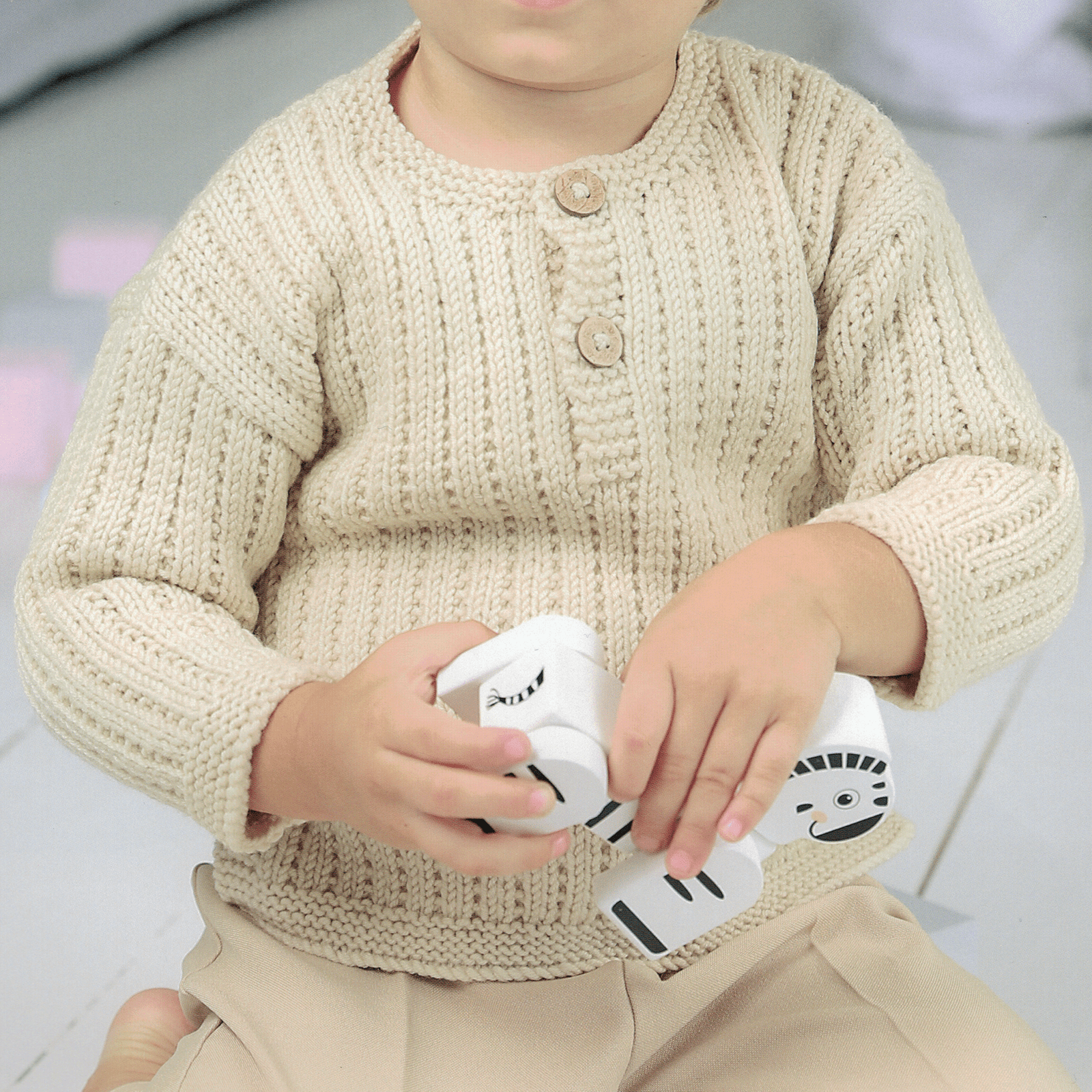 Lorenzo Baby Sweater Kit + FREE BONUS book of baby patterns!*