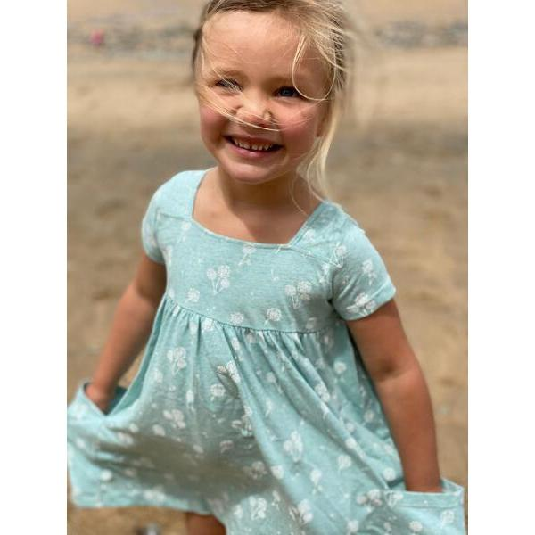 Vignette Rylie Dress | Aqua Dandelion